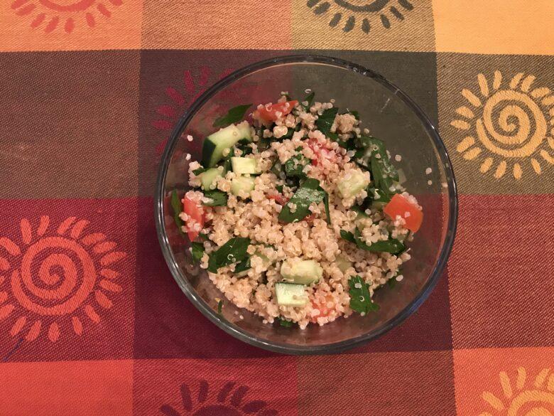 Summer Harvest Part 1: Mediterranean-Inspired Turkey Burger with Couscous Salad
